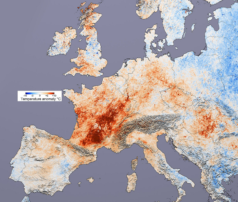Fala upałów w Europie - 2003