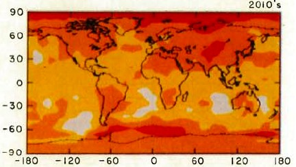 Mapa zmiany średniej temperatury