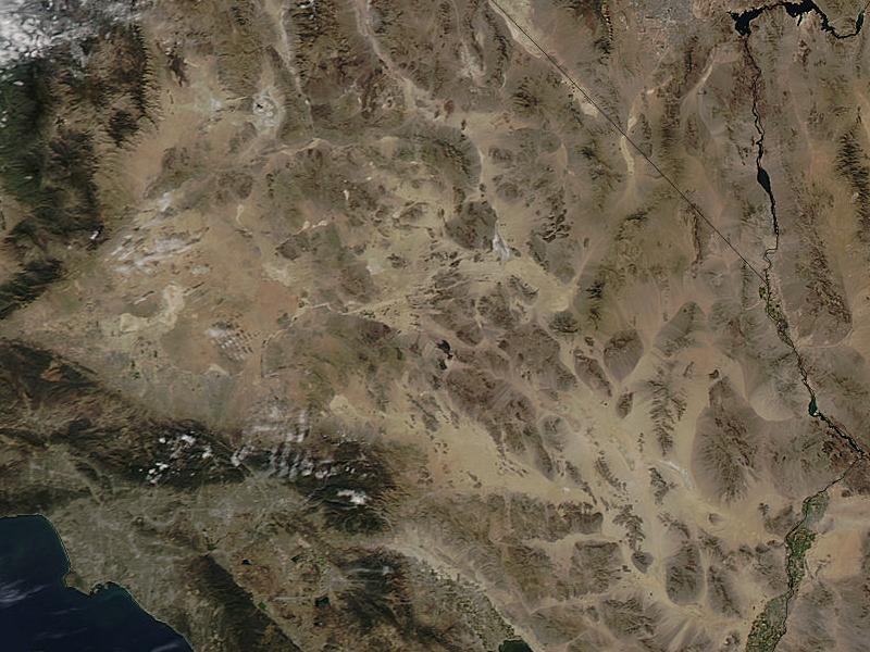 Pustynia Mojave z kosmosu