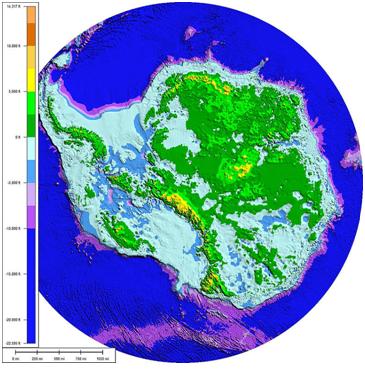 Topografia Antarktydy