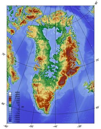 Topografia Grenlandii
