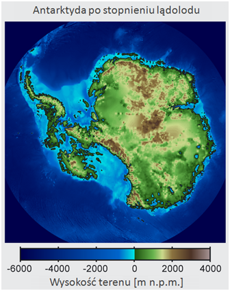 Topografia Antarktydy po stopnieniu lądolodu