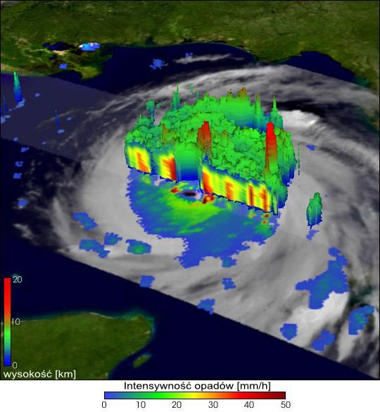 Zdjęcie satelitarne huraganu Katrina