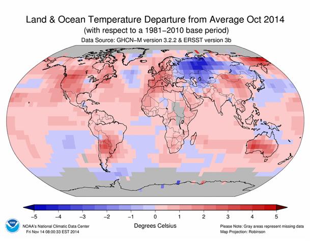 Odchylenie temperatury od średniej