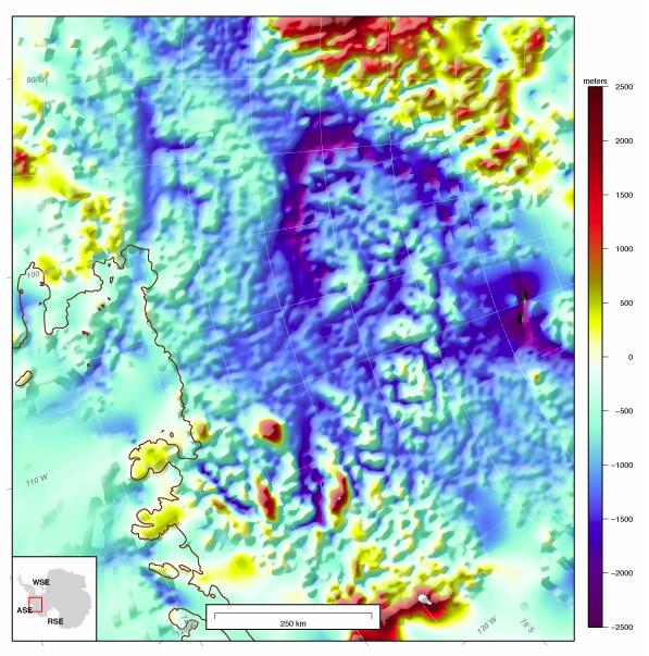Głębokość Morza Amundsena