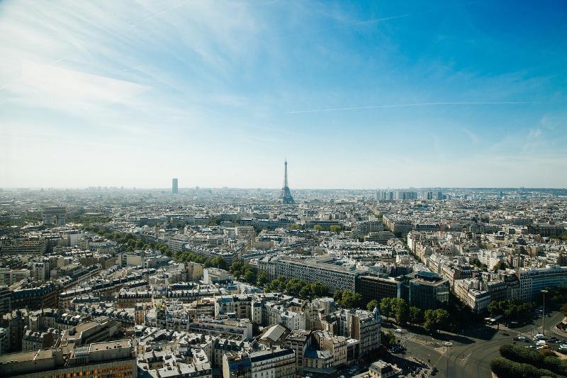 Panorama Paryża - widok ze wzgórza bazyliki Sacré-Cœur