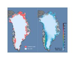 Dwie mapki Grenlandii