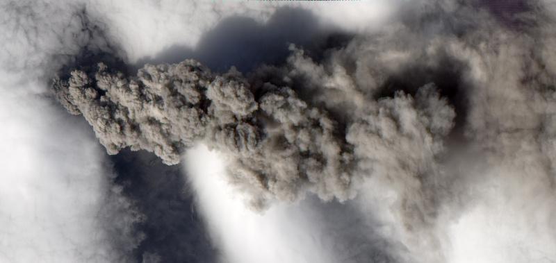 Dymy z islandzkiego wulkanu