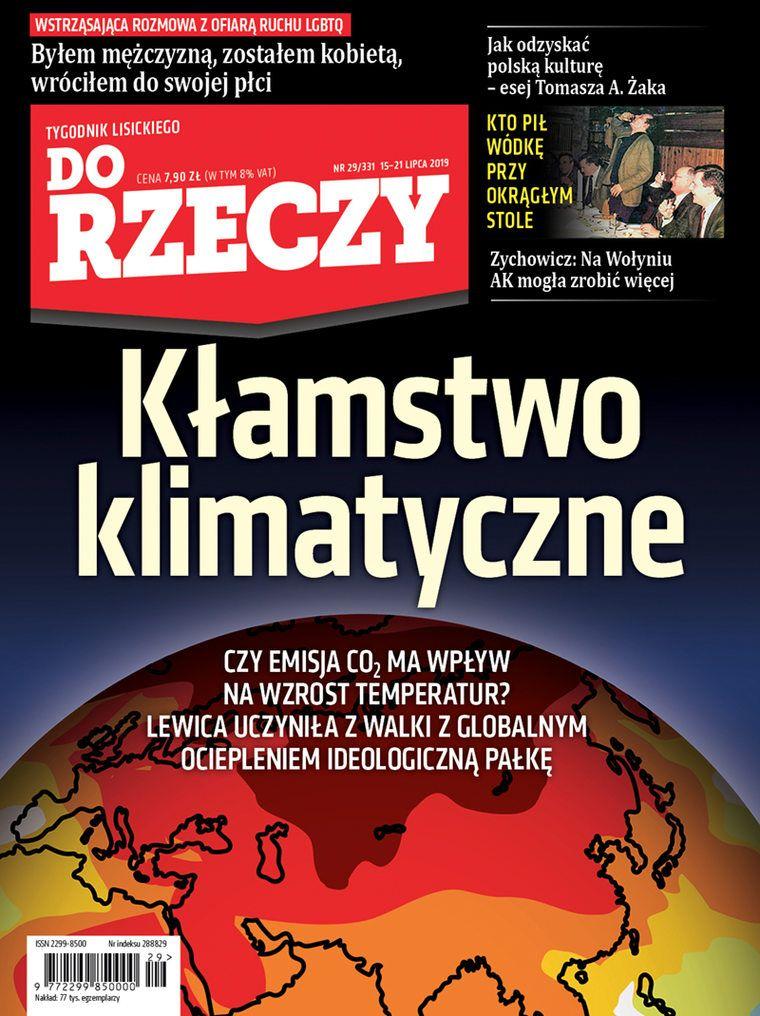 """Okładka """"Do Rzeczy"""", w którym swój artykuł umieścił Tomasz Cukiernik."""