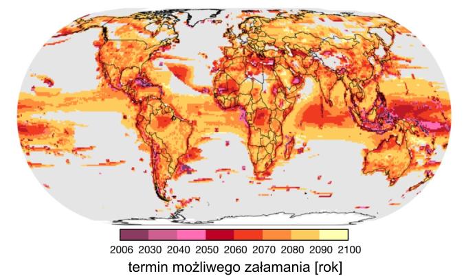 Zmiana klimatu a ekosystemy: termin możliwego załamania