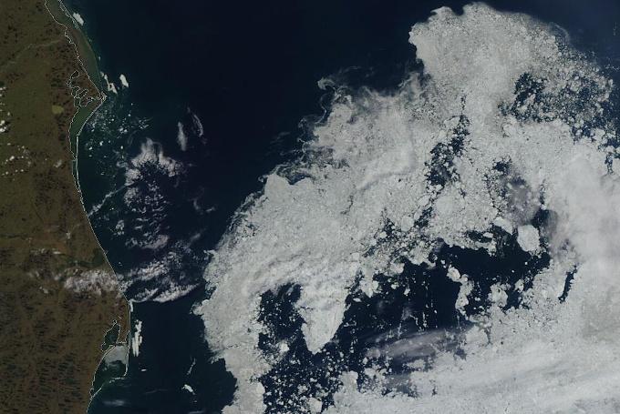 Zdjęcie satelitarne: resztki lodu na Morzu Beauforta
