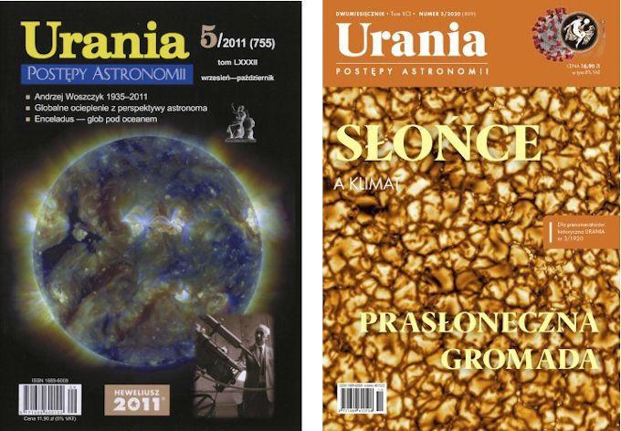 Okładki czasopisma Urania.