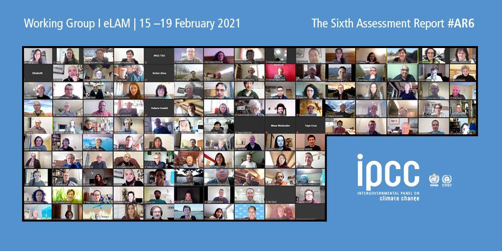 Widok z telekonferencji IPCC.